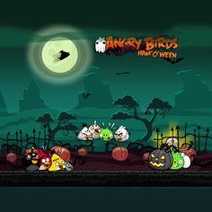 Angry Birds Seasons Ham'o'ween iPad Wallpaper. more at http://www.angrybirdsnest.com/free-angry-birds-seasons-ipad-backgrounds/