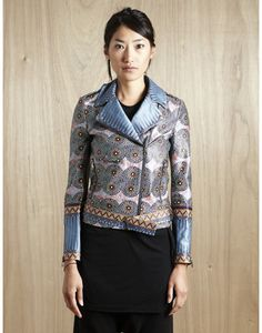 Floral print motorcycle jacket of course  Suno