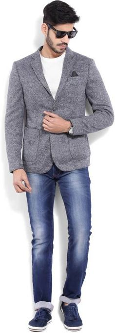 United Colors of Benetton Men's Jacket #gray #casual #blazer