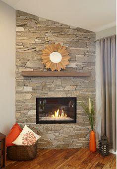 Nice mantle. Simple block of wood. Nice color too.