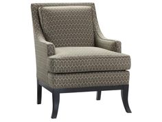 Shop for Highland House Corey Chair, 1013, and other Living Room Chairs at Hickory Furniture Mart in Hickory, NC. Shown in fabric HHc-0176-83. Finish Midnight Sun. Finish panels shown are only to give an approximate representation of the color of the finish but do not reflect the type or grain of wood used in the actual product.