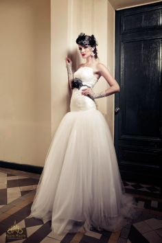 Strapless drop waist dress with lace ball gown. See more at: http://www.weddinginspirasi.com/2013/12/05/meera-meera-fall-2013-wedding-dresses/
