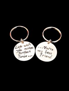 Tim McGraw lyric -My Best friend - couples Keychain - $24 ......OMG THIS IS SOOOOOO PERFECT!!!! So sweet! Blech....