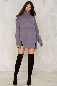 Noctural Me Turtleneck Sweater - Clothes | Pullover