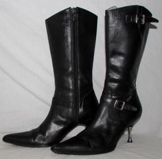 Leather Medium (B, M) Zip Solid Casual Boots for Women Sexy Boots, Black Heels, Harley Davidson, Zip, Sandals, Best Deals, Casual, Leather, Ebay