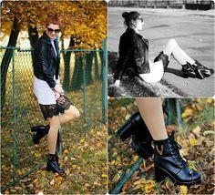Kamila Z - Zara Jacket, Sheinside Turtleneck, Asos Skirt, Asos Boots, Veneziana Tights - Lace | LOOKBOOK