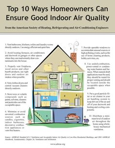 Top 10 Ways Homeowners Can Ensure Good Indoor Air Quality