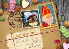 Lieve Sint en Piet,gebruikt u alstublieft deze kaart om alle kindjes uit te nodigen voor Pakjesavond of om hun schoen te komen zetten!