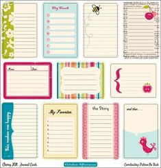 TONS of project life inspired scrapbooking ideas for Disney Project Life Disney Fab Five Journaling Cards To Do Planner, Life Planner, Happy Planner, Project Life Karten, Project Life Cards, Project Life Freebies, Pocket Scrapbooking, Scrapbook Pages, Envelopes