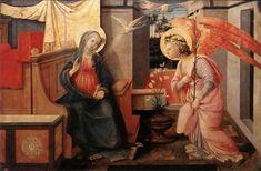 天使の絵画bot(@art_of_angel)さん | Twitter  フィリッポ・リッピ 『受胎告知』(1445‐50)