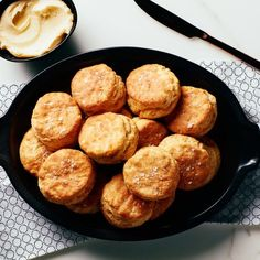 Sweet honey butter, seasoned with a kiss of flaky sea salt, is the ultimate topping for these light-as-air biscuits.