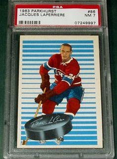 1963-64 PARKHURST #86 JACQUES LAPERRIERE ROOKIE RC PSA 7 NM in Articles de sports, Sports d'hiver, Autre | eBay