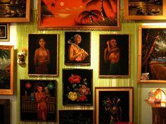 Black Velvet Painting Tiki Heaven