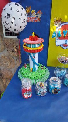 Tarta dulce chuches Torre de mando patrulla canina paw patrol #fiesta cumpleaños patrulla canina #candy bar