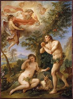 The Expulsion from Paradise  Charles Joseph Natoire (French, Nîmes 1700–1777 Castel Gandolfo)  Date: 1740 Medium: Oil on copper