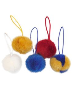 Mink Fur Pom-Poms from David Appel Furs Beverly Hills