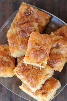Bibingka  Qué es: pastel dulce de coco.  Por qué es genial: harina de arroz + crema de coco= un gusto de la época navideña lo suficientemente delicioso para comerlo durante todo el año.