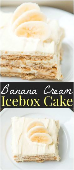Our family goes crazy for banana cream pie so a banana cream icebox cake was a must! It's just as delicious but even easier to make!