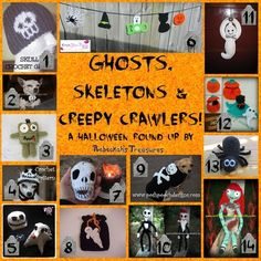 Ghosts, Skeletons and Creepy Crawlers Crochet Round Up