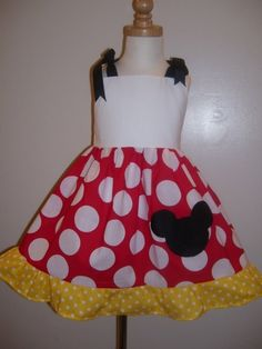 Custom Boutique Minnie Mouse Jumper Dress 12 Months to 6 by amacim, $25.50
