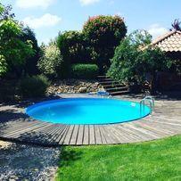 Swimming Pools Backyard, Pool Decks, Above Ground Pool, In Ground Pools, Intex Pool, Plunge Pool, Cool Pools, Pool Designs, House Design