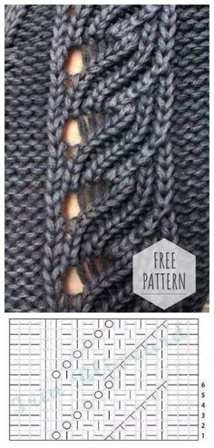 Newest Totally Free knitting techniques brioche Style Openwork knitting needles Knitting Terms, Knitting Charts, Lace Knitting, Knitting Stitches, Knitting Designs, Knitting Needles, Filet Crochet, Knit Crochet, Crochet Pattern