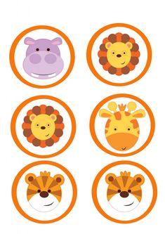 Imprimibles gratis para fiesta temática de animales de la selva - Articulos fiestas infantiles | Articulos fiestas infantiles Safari Theme Birthday, Jungle Theme Parties, Jungle Party, Safari Party, Birthday Party Themes, Boy Birthday, Deco Baby Shower, Baby Shower Games, Baby Boy Shower