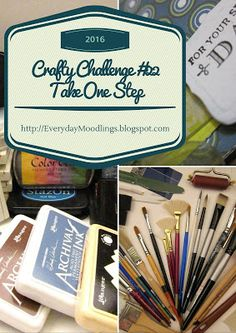 This week's challenge on the Everyday Moodlings blog is to TAKE ONE STEP toward one of your crafty goals. My goal (Shirley) is to journal more. Come see the inspiration, links, video, and project.