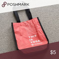 Lululemon Tote New Great for lunches!  Cute yoga themed bag. lululemon athletica Bags Totes