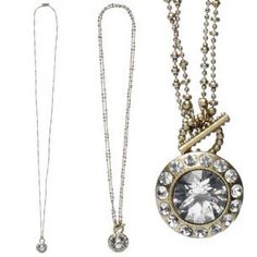 Pilgrim Classic 615 Two In One Necklace Crystal/Gold