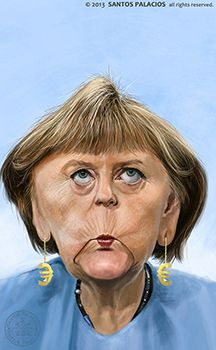 Angela Merkel-Caricaturas-Caricatures