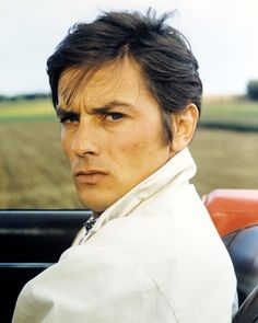Alain-Delon-Poster-or-Photo-Striking-Portrait-1960-039-s-in-Sports-Car-Open-Top