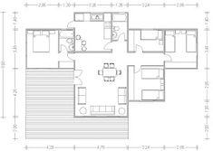 Planos Casas de Madera Prefabricadas: Planos Casas 70 a 100 m2