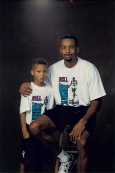 Dell Curry and son Stephen Curry.