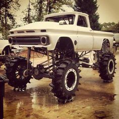 jeeps and trucks Lifted Cars, Lifted Ford Trucks, 4x4 Trucks, Diesel Trucks, Custom Trucks, Cool Trucks, Mudding Trucks, Small Trucks, Chevy Pickup Trucks