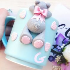 1 million+ Stunning Free Images to Use Anywhere Polymer Clay Cupcake, Polymer Clay Animals, Cute Polymer Clay, Polymer Clay Dolls, Polymer Clay Projects, Clay Jar, Clay Mugs, Cute Mug, Cold Porcelain