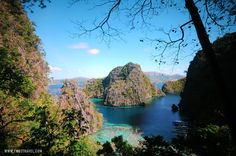 View from the hike to Kayangan Lake, Coron, Philippines