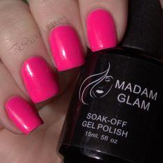 Madam Glam Soak Off Gel Review #thepolishedmommy  #nailart #pink #coral #cutenails - bellashoot.com