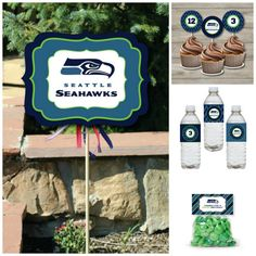 Seattle Seahawks Birthday Party Package Printable by Punkyprep, $13.95 Sports Birthday, 12th Birthday, 6th Birthday Parties, Birthday Ideas, Seahawks Memes, Seahawks Football, Seattle Seahawks, Party Package, Man Party