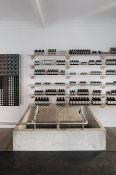 Aesop's in-house design team worked with Parisian architecture and design studio Ciguë to create the interior of their new 33 sqm store in Nottingham, UK.