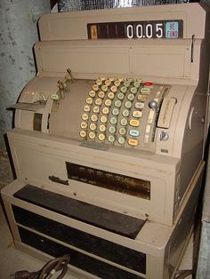 Cash Register - I used one of these for a part-time job in the 70's. It had a hand crank in case the power went out ... ;)