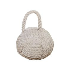 Tan Rope and Sand Knot Door Stop, Browns/Tans