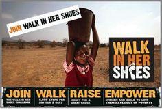 5月25日(金)~6月24日(日)開催! 歩く国際協力:Walk in her Shoes  チャリティ・ウォーク・キャンペーン  あなたの一歩が、途上国の女性や女の子たちの一歩の軽減に!