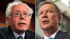 Ohio Gov. John Kasich and Vermont Sen. Bernie Sanders got an early boost Tuesday as they won the vote in Dixville Notch, the New Hampshire hamlet that is home to the first vote in the first-in-the-nation primary.