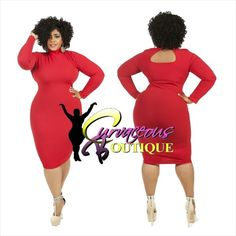 RED MARY DRESS   ( MODEL WEARING 2X )   SIZE :  1X  2X  3X    COLORS :  PURPLE  BLACK  OFF WHITE  CHEVRON PRINT  RED / BLACK PRINT  RED  WWW.CURVACEOUSBOUTIQUE.COM & IN STORE    { { VISIT THE WEBSITE FOR ALL DETAILS & PRICE } }