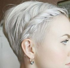 pixie with braided bangs