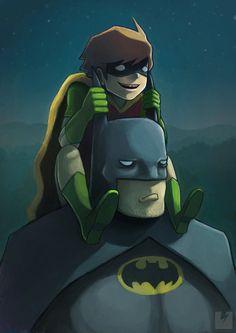 Batman and Robin  by *ry-spirit