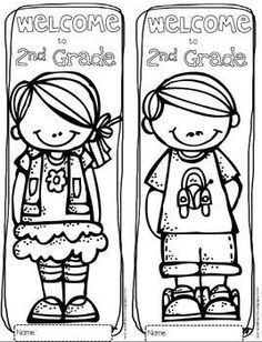 Free Welcome to Any Grade through 6th Grade - Coloring Sheets...perfect for the first day of school.