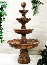 Large Multi Tiered Ball Outdoor Garden Backyard Patio Courtyard Water Fountain