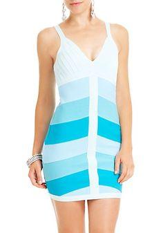2b Colorblock Chevron Bandage Dress #17ShoppingInsider